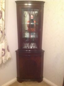 Corner Display Cabinet - Mahogany