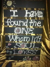VINTAGE RUSTIC WOODEN CRATE TRAY UPCYCLE WEDDING EVENT SIGN