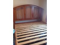 Super king size solid wooden bed