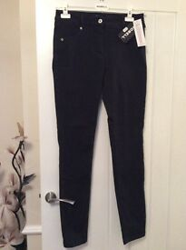 ROBELL BLACK LADYS JEANS SIZE 14 SLIM FIT BRAND NEW WITH TAGS