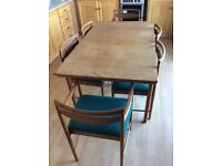 Retro McIntosh Dining Table & Chairs. Sold pending uplift