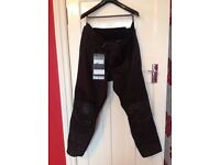 AS NEW - Rev'it Ladies Factor 3 Textile Motorcycle Trousers -Black - Size 18 Short