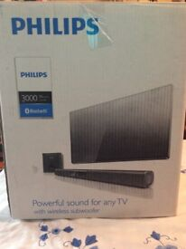 Phillips 3000 series Bluetooth sound bar with sub