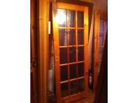 Glass panel doors x2