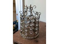 Beautiful glass and metal lamp shade