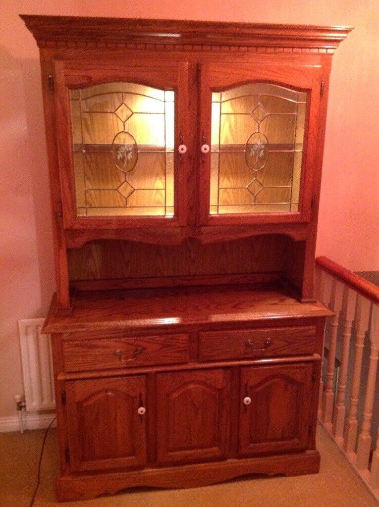 Beautiful oak dresser for sale.