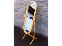 Lovely pine cheval mirror