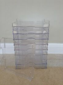 "Stacking Perspex display stands for 12"" x12"" card 43 available."