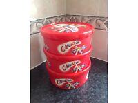 Empty 'Celebrations' 750gm chocolate storage tubs