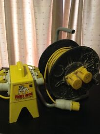 Power Reel 110 Volt & 4 way Splitter