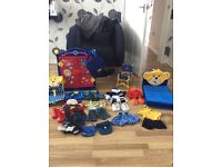 Build a bear 8 outfits wardrobe bed wheel chair car seat and carry case