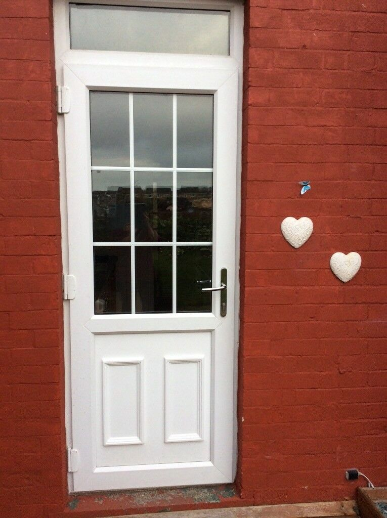 Upvc White External Door In Edenthorpe South Yorkshire