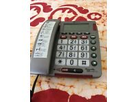 Amplicon extra loud telephone with extra large buttons