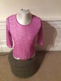 Pink lacy top by M&S