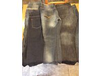 Five pairs of men's jeans in size 38 reg and 38 long