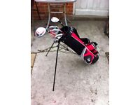 Junior R/H Golf Clubs & Stand Bag