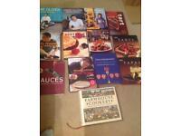 Various cook books , roux, Jamie Oliver, claire macdonald, m&s,