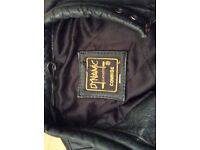Ladies black leather motorcycle jacket ,size small