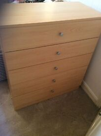 Chest of drawers, good condition,