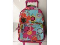 Girls colourful, flower hand luggage wheelie case