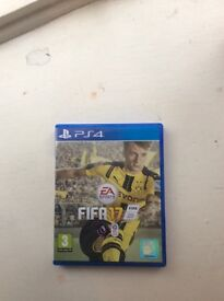 Here I'm selling Fifa 17 for PS4 works fine only used a couple of times