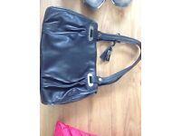 Jasper Conran Debenhams Black super soft ladies womens handbag