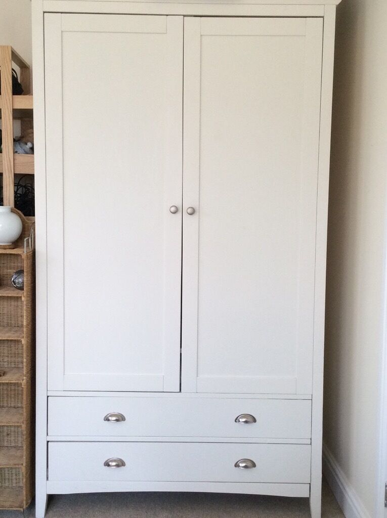 Ikea White Double Wardrobe 2 Drawer In Wells Somerset