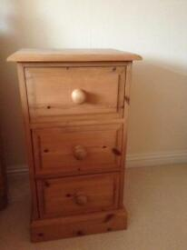 Antique Pine bedside cabinets x2