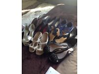 Ten pairs of assorted shoes