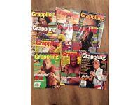 10 x BJJ UFC Memorabilia - Royce Gracie Helio Gracie Grappling Magazines