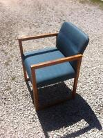Wood and cloth chair