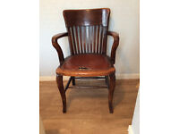 19th CENTURY SOLID OAK CAPTAIN/CARVER CHAIR. RESTORATION PROJECT.