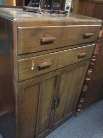 Reduced vintage cupboard with drawers