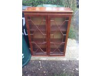 Antique Book Case with Key