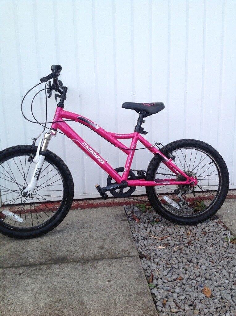 Girls muddy fox bike