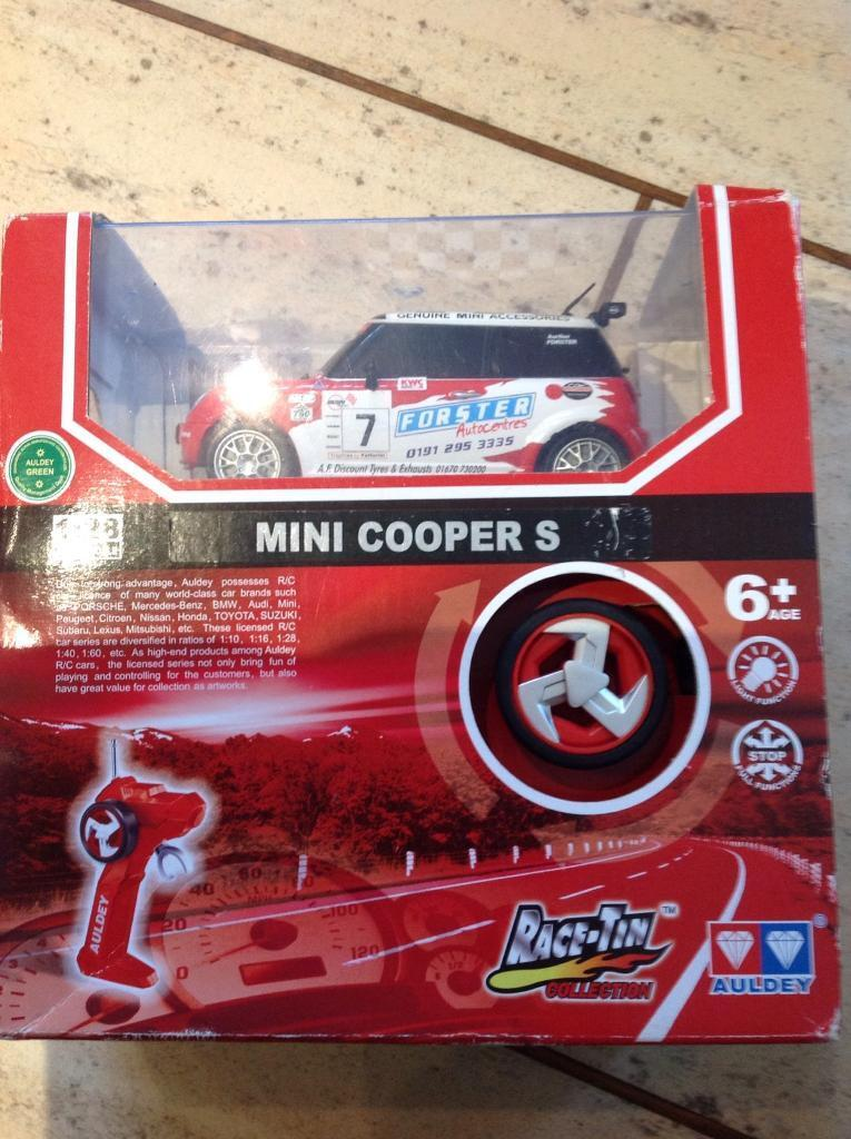 Auldey race-tin collection Mini Cooper remote control car BRAND NEW SEALED BOX