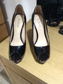 GUESS stiletto black patent heels