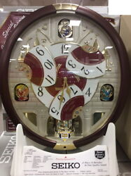 Seiko 24 Melodies in Motion Musical Wall Clock With Swarovski Element NEW