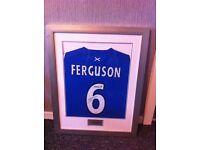 FOR SALE - A SIGNED (framed) BARRY FERGUSON SHIRT