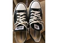 As new man's size 8 black converse. Excellent condition