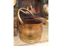 Brass Coal Scuttle / Bucket
