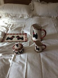 2jugs and sandwich plate and sugar bowl
