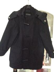 Marks and Spencer Autograph Boys Duffle Coat with detachable hood. Age 7-8.