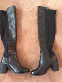Black over the knee boots - size 6