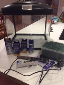 48 litre fish tank with accessories. Cheap price, good start up tank