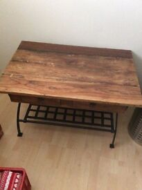 Solid oak coffee/occational table