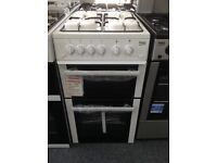 Beko 50cm white gas cooker. £249 new/graded 12 month Gtee