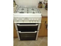 Beko gas cooker, White, 2 ovens, top one also grill. Very clean we prefer electric.