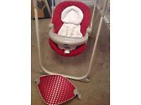 Chico motorised baby swing chair rocker