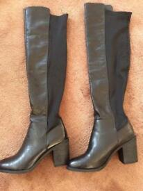 Black over the knee boots. Size 6.